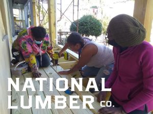 Black Women Build - Baltimore 2020 participants installing decking - featured builder profile National Lumber