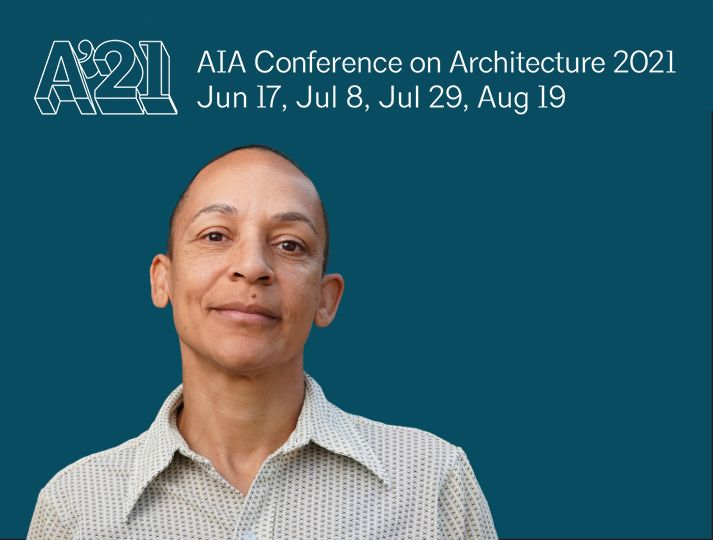 Shelley presenting closing keynote at the AIA Conference on Architecture 2021